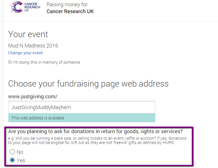 Can i sell tickets through a justgiving fundraising page what should we do when we create our page negle Image collections